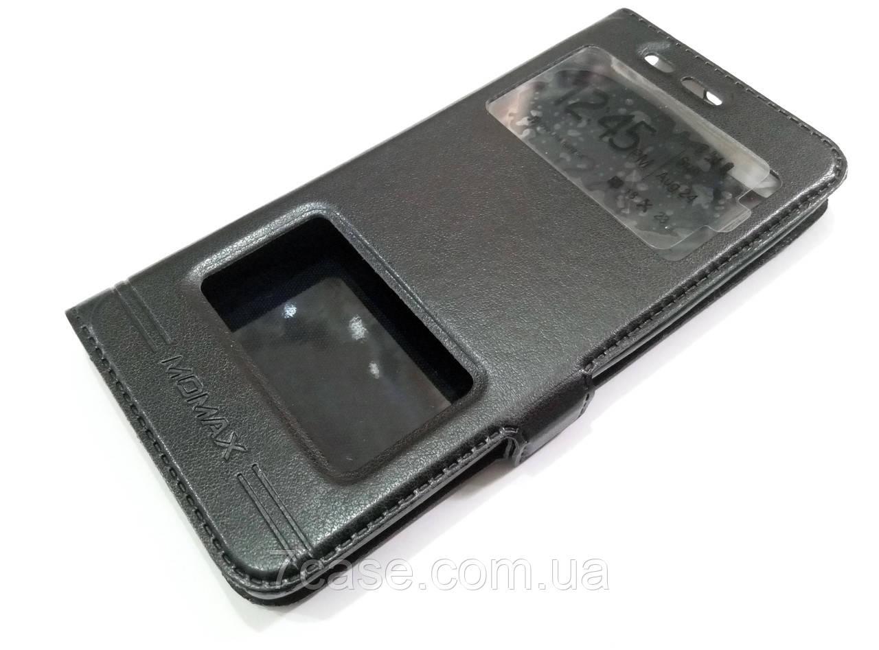 Чехол книжка с окошками momax для Xiaomi Mi 5 / Mi 5 Pro черный