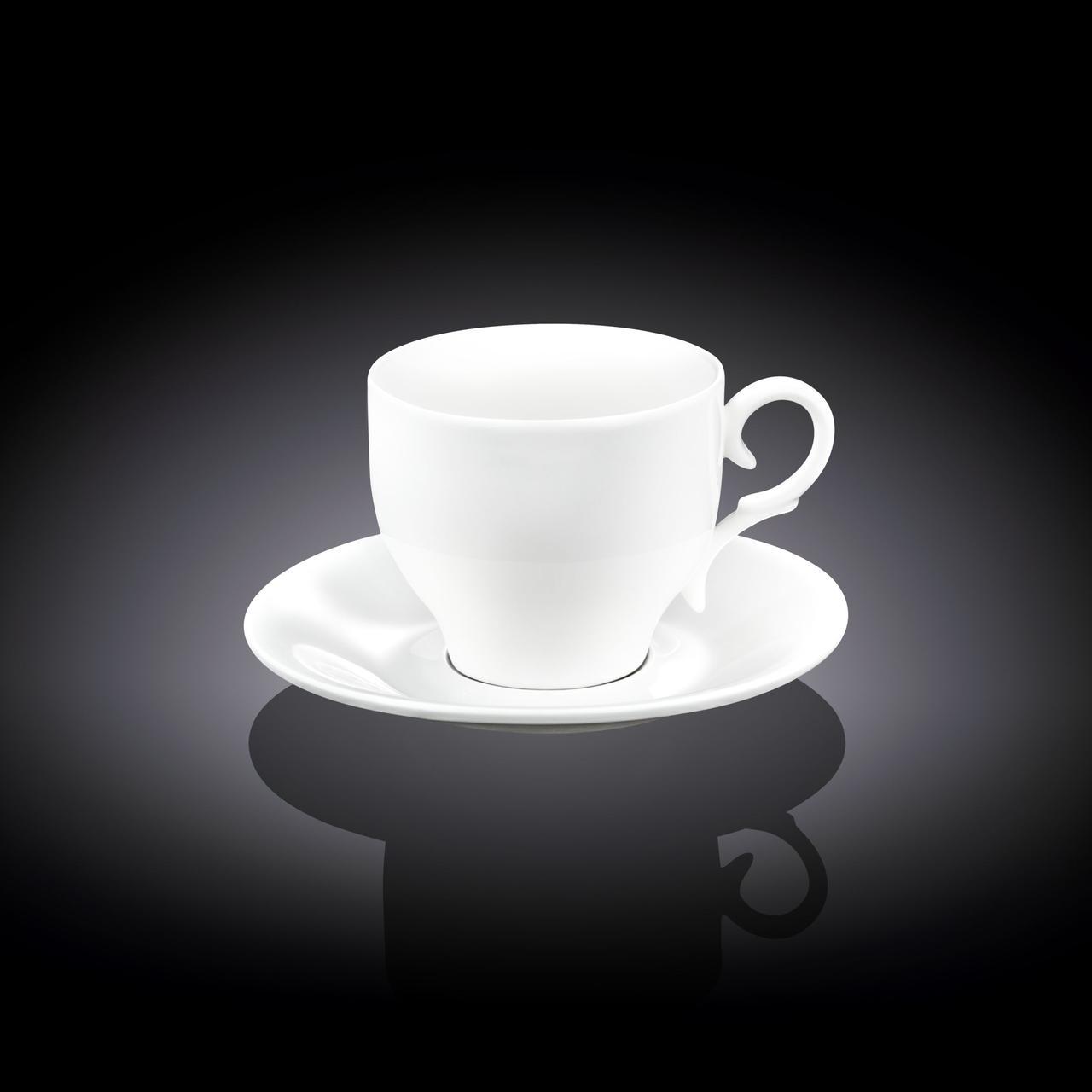 Чашка чайная Wilmax 220 мл с блюдцем