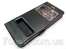 Чехол книжка с окошками momax для Huawei P10 Plus черный