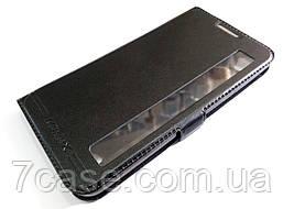 Чехол книжка с окошком momax для LG X power K220DS черный