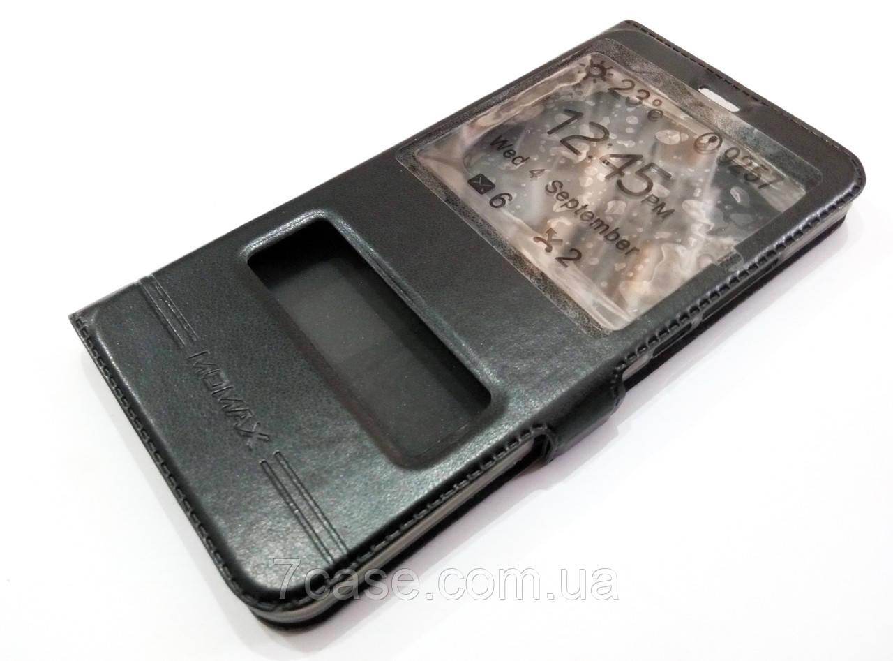 Чехол книжка с окошками momax для Meizu M3x черный