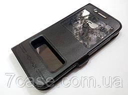 Чехол книжка с окошками momax для Samsung A5 a520 (2017) черный