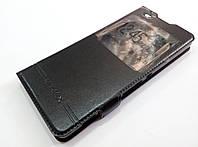 Чохол книжка з віконцем для Sony Xperia XA dual f3111 чорний