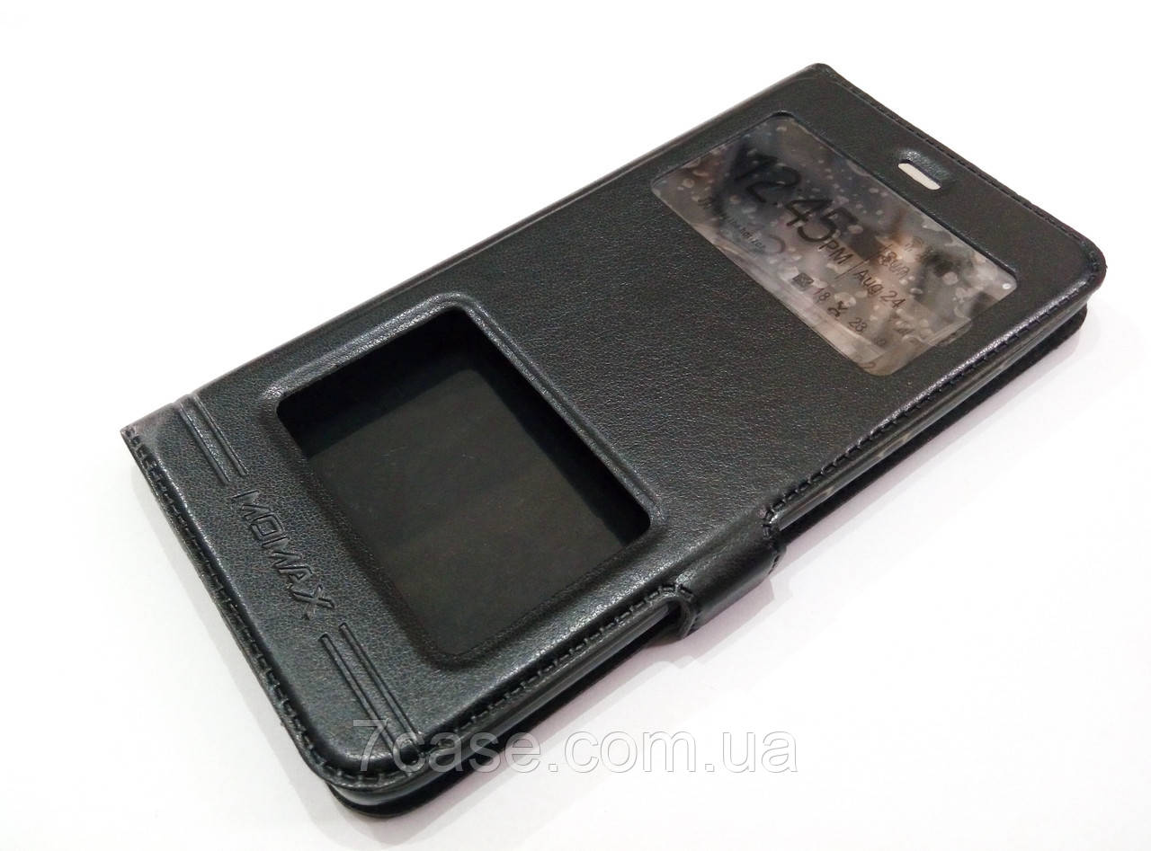 Чехол книжка с окошками momax для Xiaomi Mi 5s черный