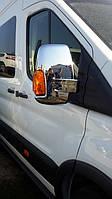 Ford Transit 2014↗ Накладки на зеркала 2 шт (пластик)