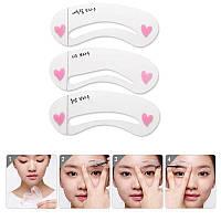 Трафареты для макияжа бровей Secret Key Self Drawing Brow Guide 3 шт