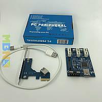 Плата расширения портов PCI-E x3 riser райзер