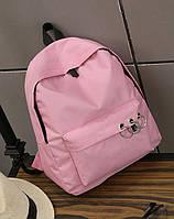 Розовый рюкзак с кольцами