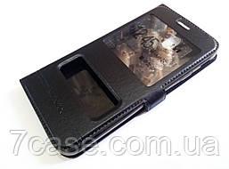Чехол книжка с окошками для Samsung Galaxy J7 j730 (2017) черный