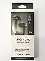 Навушники з мікрофоном Celebrat S-30 black
