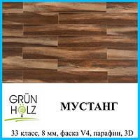 Ламинат с эффектом старения толщиной 8 мм Grun Holz Jeans 33 класс, Мустанг