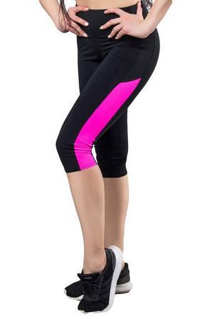 aafed701a96e Спортивные бриджи широкий пояс (42-44  44-46  46-48  48-50), женские капри  для спорта и фитнеса, розовый