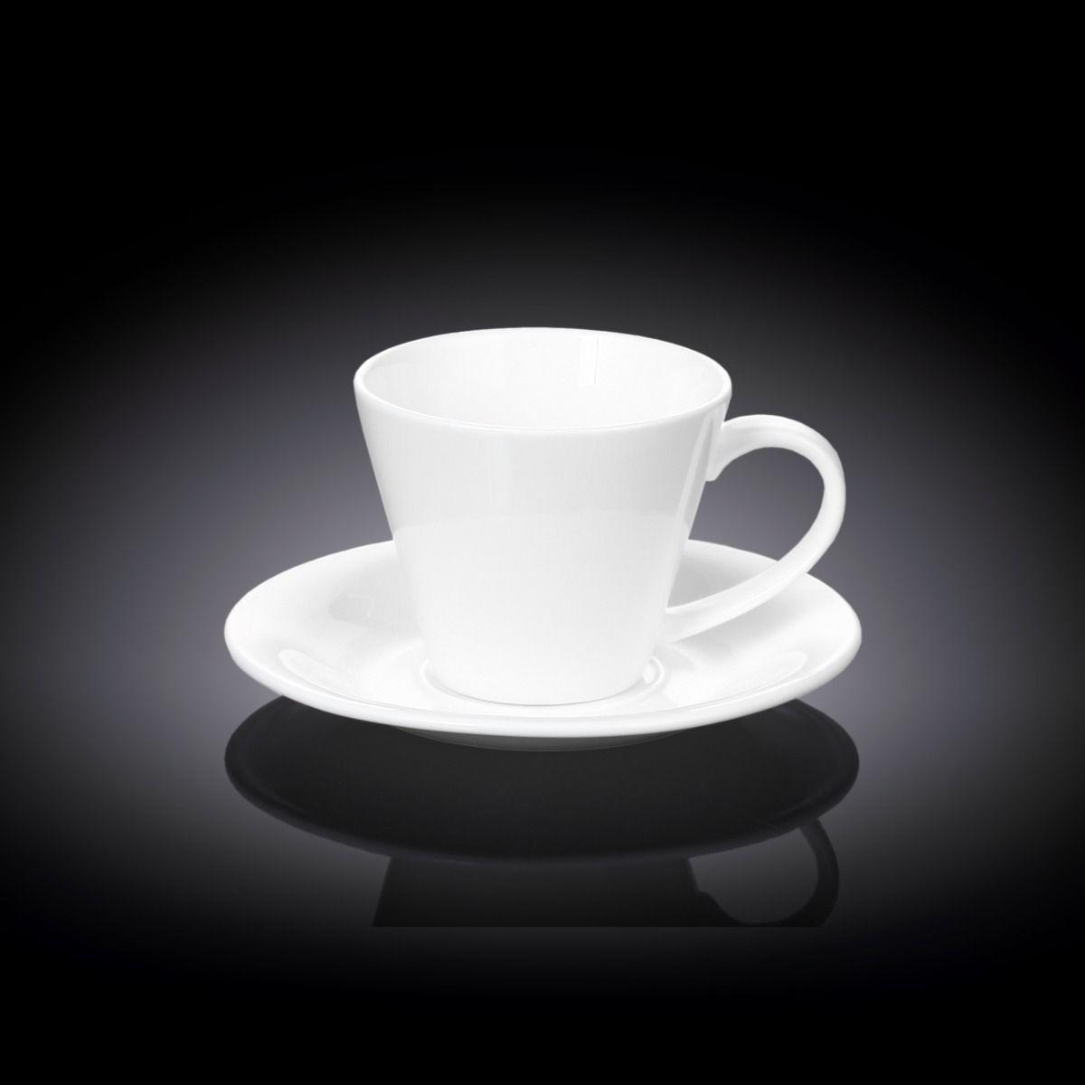 Чашка чайная Wilmax 180 мл с блюдцем
