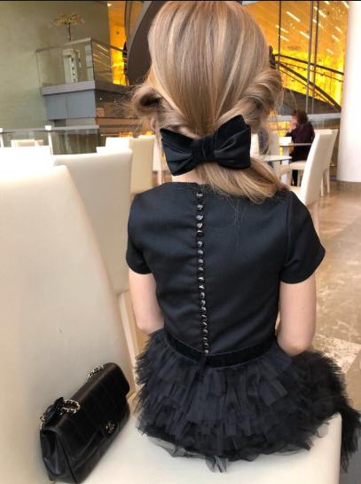 Детское маленькое черное платье -The black.