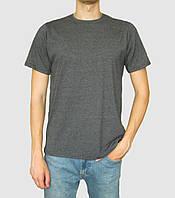 Мужская футболка из хлопка цвета антрацит от производителя zomak