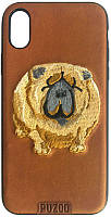 Чехол-накладка PUZOO TPU+TPU with stitchwork craft Ballon Dog iPhone X Brown, фото 1