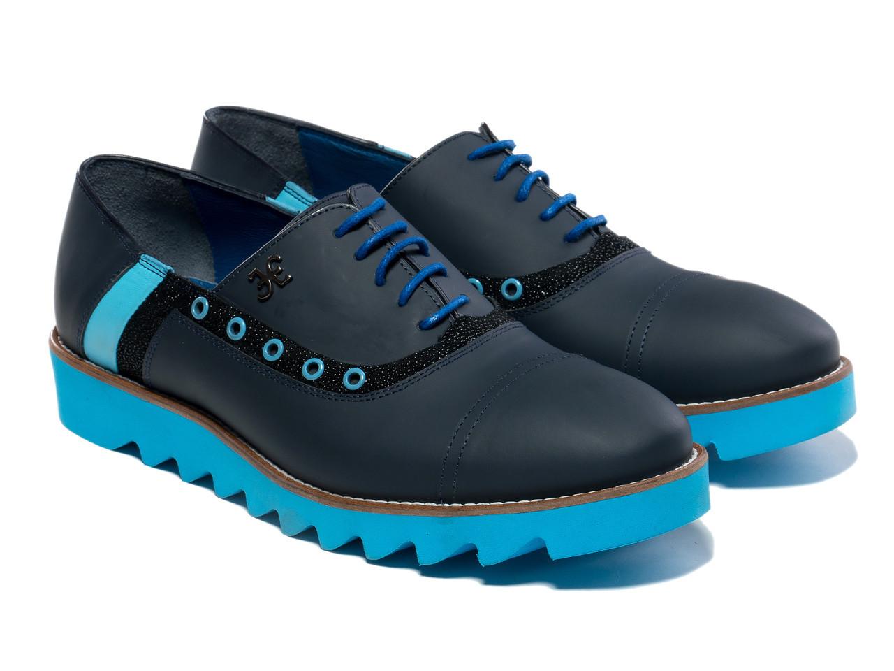 Оксфорды Etor 12758-131-2070 44 синие