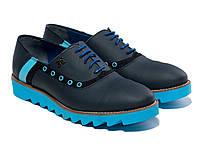 Оксфорды Etor 12758-131-2070 44 синие , фото 1