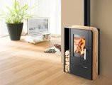 Кафельная печь на дровах, каминофен Haas+Sohn Nordby , Современная буржуйка