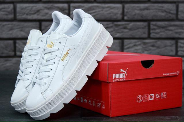 e588e73818a8 Кроссовки Женские на Платформе Модные Белые Rihanna X Puma Fenty ...