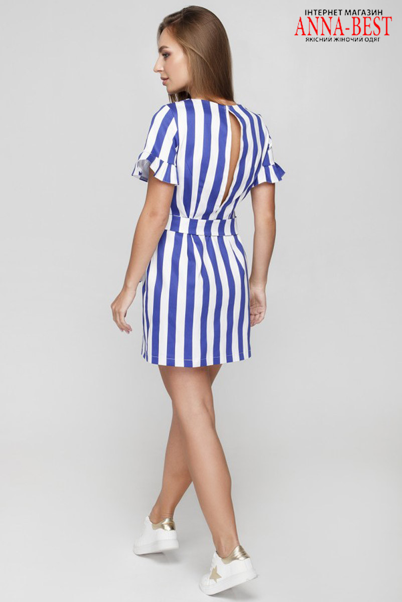 c0cbd8a33f10513 ... Коттоновое короткое летнее платье в полоску размер M