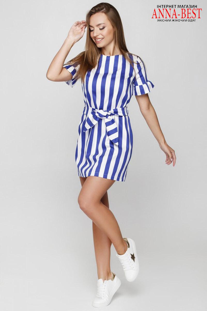 93b3dbd778a076a Коттоновое короткое летнее платье в полоску размер M