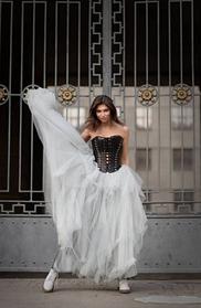 Длинная  юбка - оригинальный крой.