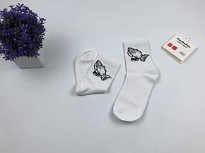 Носки Drake Молитвенные Руки (белые), фото 2