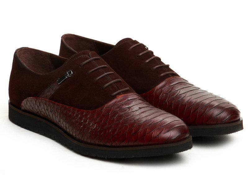 Оксфорди Etor 12916-100-78 44 коричневі