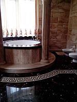 Ванные комнаты облицовка мрамором