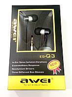 Навушники вакуумні Awei ES-Q3 grey