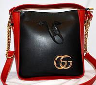 Новинка! Стильная женская сумка Gucci GG Marmont на цепочке черного ... d96e17486a5
