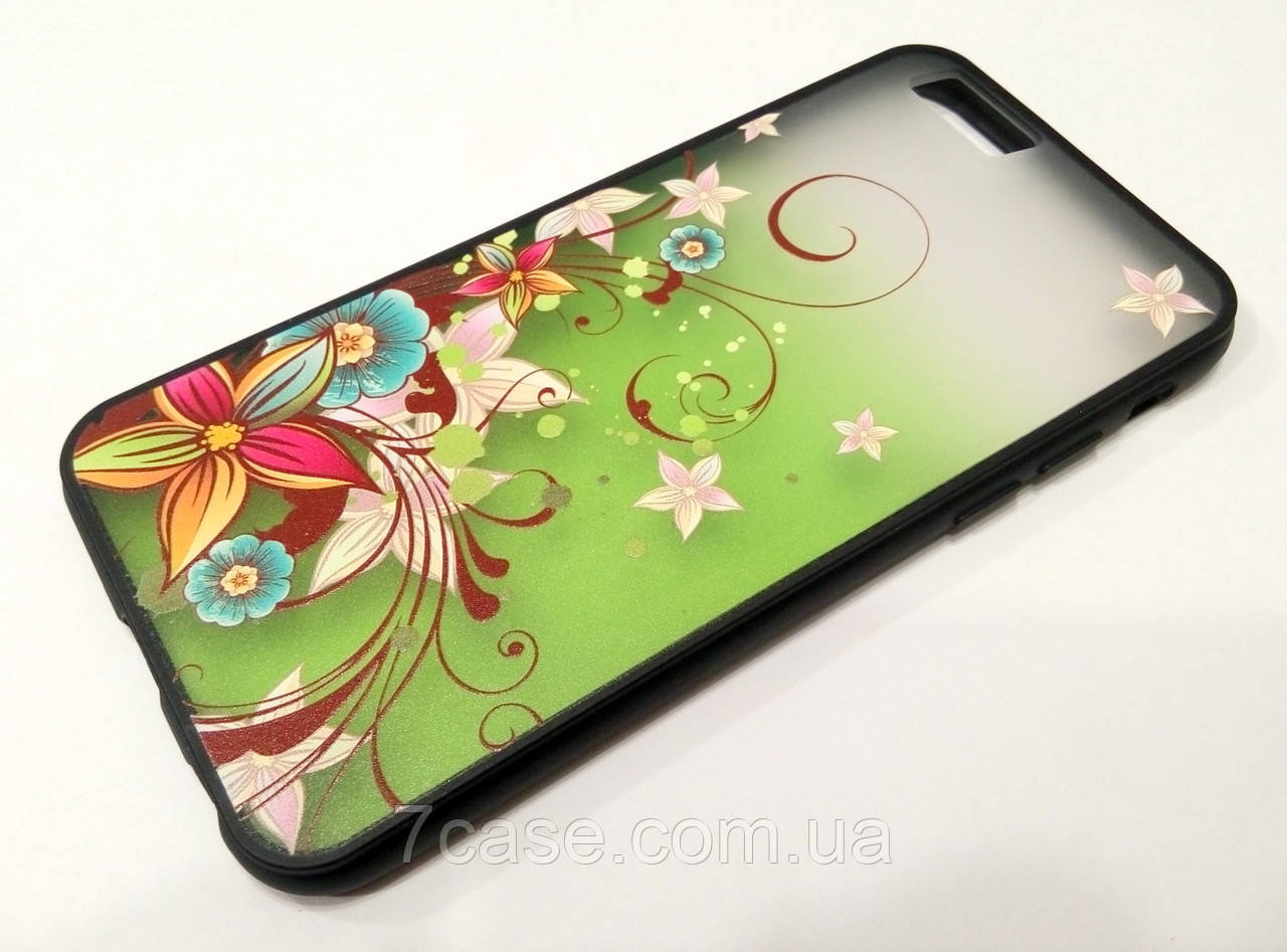 Чехол Remax Cover Glamour Series для iPhone 6 / 6s цветы зеленый