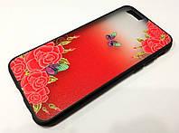 Чехол Remax Cover Glamour Series для iPhone 6 / 6s цветы красный