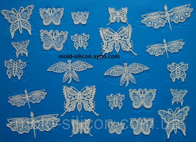 """Силіконовий килимок для гнучкого айсинга """"Мереживні метелики"""""""