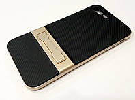Чехол Ipaky для iPhone 7 Plus прорезиненный со съемным пластиковым бампером и подставкой черно-золотой