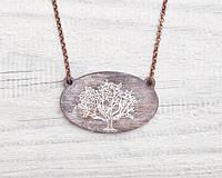 Кулон ручной работы Дерево коричневый дерево, фото 1