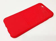 Чехол для iPhone 6 / 6s накладка перфорация красный
