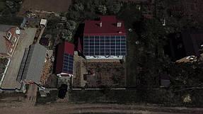 Сетевая солнечная станция на геошурупах. г. Полтава 1