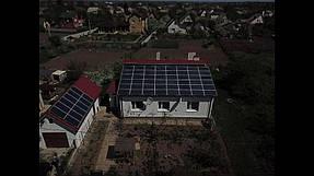 Сетевая солнечная станция на геошурупах. г. Полтава 2