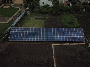 Сетевая солнечная станция на геошурупах. г. Полтава 3