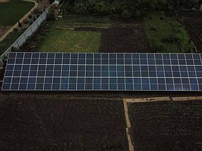 Сетевая солнечная станция на геошурупах. г. Полтава 4