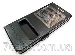 Чехол книжка с окошками momax для Meizu E2 черный
