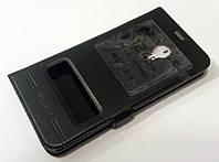 Чехол книжка с окошками Momax для Meizu M6 черный, фото 1