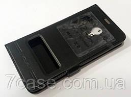 Чехол книжка с окошками Momax для Meizu M6 черный