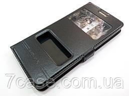 Чехол книжка с окошками momax для Nokia 5 черный