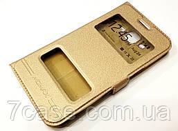 Чехол книжка с окошками momax для Samsung Galaxy J3 Pro j3119 gold
