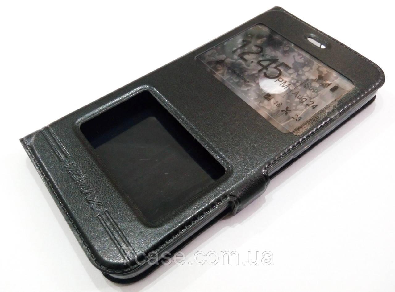Чехол книжка с окошками momax для Xiaomi Redmi Note 5A черный