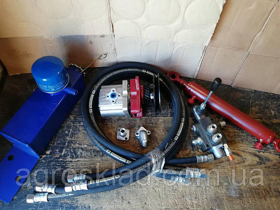 Комплект для установки гидравлики на мотоблоки и минитрактора с гидроцилиндром , фото 2