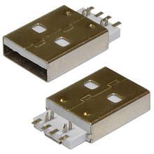 Коннектор USB, Штекер USB разъем папа. USB-A SMD USB-114